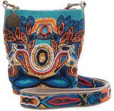 ShopStyle: STELLA MCCARTNEY - Tribal beaded messenger bag