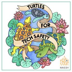 Download your own coloring page - or the entire series here: http://nnedv.org/GetInvolved #TurtlesForTechSafety