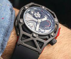 Hublot Techframe Ferrari 70 Years Tourbillon Chronograph Watch Hands-On | aBlogtoWatch