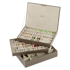 Mink Supersize Stackers Premium Stackable Jewelry Box | The Container Store