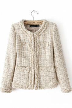 bf83a749fbc621 teacher chic Cream Coat, Beige, Blazers, Vintage Outfits, Vintage Wardrobe,  Chanel