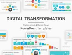 Digital Transformation PowerPoint Template Ppt Template, Powerpoint Presentation Templates, Change Management, Slide Design, Digital Technology, Customer Experience, All The Colors, Budgeting