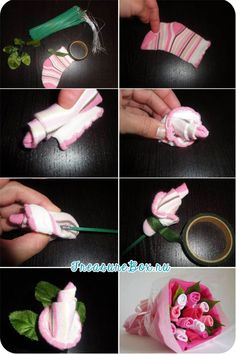 Easy video tutorial for how to make a baby sock rose and negle Gallery
