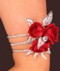 Arm Rhinestone Corsage Bracelet (no flowers or leaves) - bracelet only $11.99