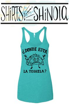 FREE SHIPPING Tacos and Tequila graphic Tank by ShirtsFromShinola