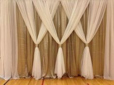 Image result for wedding tulle lattice screen decor