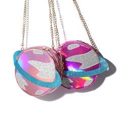 "Harajuku laser galaxy messenger bag   Coupon code ""cutekawaii"" for 10% off"