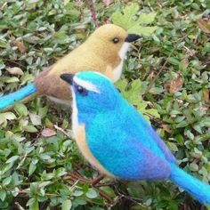 Felted birds | Japanistic/Blog