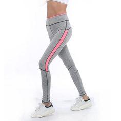 Leggings - Activewear Spring Summer High Waist Pink Light Grey Gym Leggings