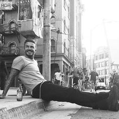 David Beckham shared this picture on his official Instagram and he wrote: Back to work #davidbeckham  #ديويدبكهام اين عكس را در اينستاگرام رسمى اش به اشتراك گذاشت و نوشت : بازگشت به كار