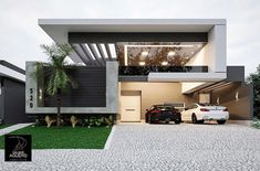 home decor crafts Bungalow House Design, House Front Design, Modern Architecture House, Architecture Design, Modern Villa Design, Contemporary Design, New Home Designs, Facade House, Exterior Design