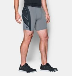 Men's UA HeatGear® Armour CoolSwitch Supervent Shorts, Steel