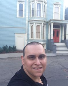 Mark Sinacori outside of the new Fuller House house on the Warner Bros studio lot (November 2015)