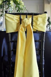 Sash chair tie for a chiavari chair brings in a nice color without covering up the pretty lines of the chair.