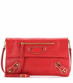 Classic Metallic Edge Envelope leather shoulder bag   Balenciaga