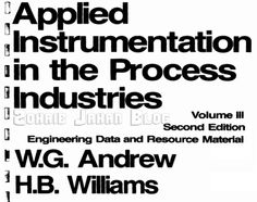 Free download PDF of Applied Instrumentation in Process Control by W.G. Andrew and H.B. Wiiliams 2nd edition - Engineering book
