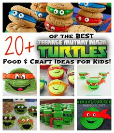 Turtle Birthday Parties, Ninja Turtle Birthday, Ninja Turtle Party, Birthday Ideas, 5th Birthday, Carnival Birthday, Birthday Recipes, Cake Birthday, Ninja Turtle Snacks