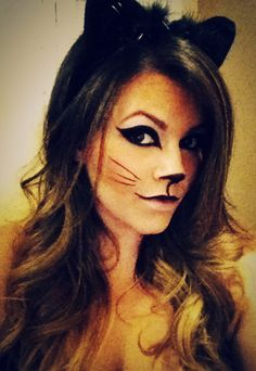 Cute cat makeup for Halloween | Cat Makeup | Pinterest | Easy ...