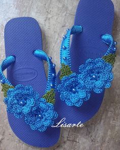 Crochet Sandals, Crochet Shoes, Crochet Slippers, Filet Crochet, Crochet Motif, Crochet Top, Crochet Patterns, Flip Flop Shoes, Flip Flops