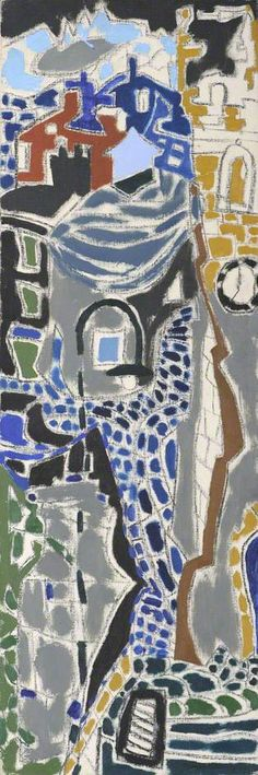Market Place (Half Church Tower) : St Ives : 1950 by Patrick Heron (British 1920-1999)