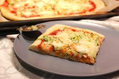 Pizza à la courgette râpée