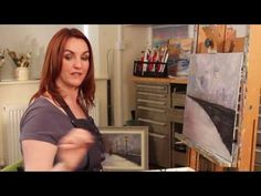Lamplight Love Acrylic Painting Landscape - Paint With Maz Online Class - YouTube