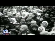 """Soviet atrocity in Ukraine by the hand of Stalin. Collectivization. Soviets exported grain from Ukraine while millions of Ukrainians were murdered by forced famine starvation, at the rate of 25,000 people per day.    Fox News gives a brief introduction about Holodomor (1932-33). """"Revolutionary Holocaust: Live Free Or Die PT3,""""  hosted by Glenn Beck"""