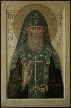 St. Seraphim of Vrytsina(?) Byzantine Icons, Byzantine Art, Lord King, Church Icon, Russian Icons, Russian Orthodox, Orthodox Icons, Old Art, Portrait Art