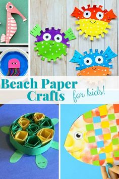 There is something about beach paper crafts that screams summer. From fish paper crafts, under the sea paper plate crafts, to turtle crafts and other ocean animal crafts. We hope you get some fun beach craft inspiration! Fish Paper Craft, Paper Plate Crafts For Kids, Paper Toy, Paper Crafts For Kids, Crafts For Kids To Make, Ocean Crafts, Fish Crafts, Beach Crafts, Summer Crafts