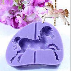 Hot Sale Carousel Horse Design Silicone Cake Mold Fondant Cake Decoration Mold…