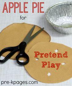 Pie Day - Felt Apple Pie for Pretend Play