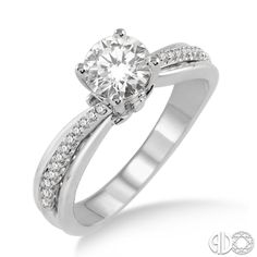 PIN if you love this classic engagement style! #Ashi #diamonds #janesjewelers