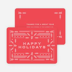 Modern Holly Corporate Holiday Cards