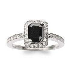 Black Diamonds. Perfection. My wedding/engagement ring will be black. ;)