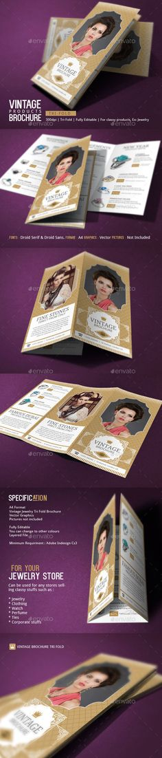 Makeup Artist Brochure Template | Brochures, Brochure Template And