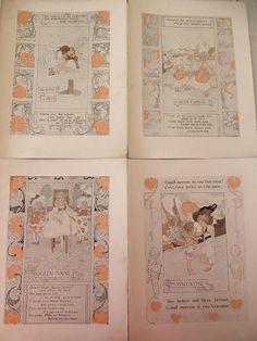 Four 1903 Children's Nursery Rhymes Lithographs