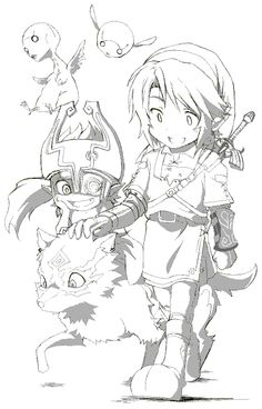Oekaki Link sidekicks (from Zelda: Twilight Princess)