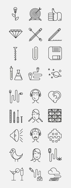 Superegg Icons by Dario Citriniti, via Behance: