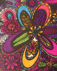 ColorIt Colorful Flowers Volume 1 Colorist: Julie Rhoades #adultcoloring #coloringforadults #adultcoloringpages #flowers