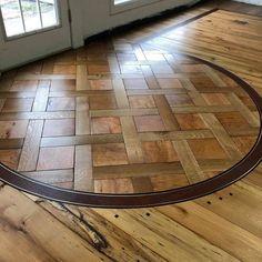 Custom showroom floors from J. Wood Flooring, Floors, Into The Woods, Floor Design, Custom Wood, Showroom, Photo And Video, Videos, Table