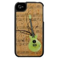 Green Guitar Envy - Customize Template Case For The iPhone 4