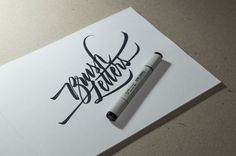 Brush Letters. A quick test of Copic Sketch brush pen.