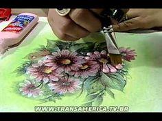 Tv Transamérica - Técnica: Decoupagem em tecido com relevo. Link download…