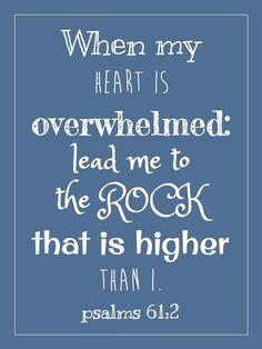 Facebook : Psalm 61:2