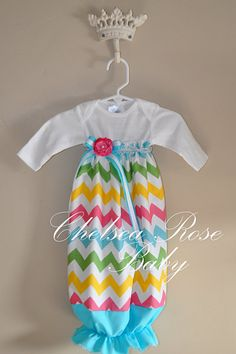 Baby Girl EASTER Onesie Dress Baby Girl Dress by ChelseaRoseBaby, $33.00