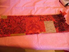 Scarf Red and Tan Fleece Scarf #Handmade #Scarf