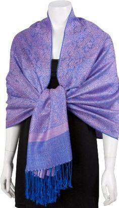 "70"" x 28"" Silk Paisley Self-design Pashmina Shawl / Wrap / Stole - 50+ Beautiful Designs ♥"