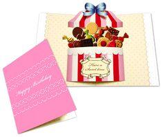 #カワイイ #BOX からあふれる #ポップアップカード の #スイートボックス です(*´∨`*) #お誕生日カード になってますが、表紙を #リメイク して #バレンタイン にも使えそうですね!( ∩ˇωˇ∩)https://goo.gl/EjZnhm