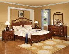 Brand new Lorenzo - Cherry Bedroom Set - Bedroom Sets from Winners Only. Crowley Furniture is Kansas City's family owned furniture store for over 60 years. Bedroom Collection, Bedroom Interior, Bedroom Furniture Sets, Bedroom Design Styles, Living Room Sets, Furniture, Cherry Bedroom Set, Home Decor, Bedroom Furniture