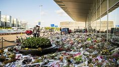 This shows the ever growing improvised memorial for the MH17 victims.